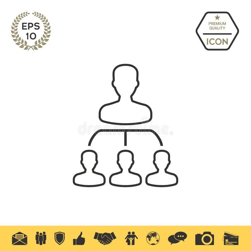 Jerarquía - línea icono libre illustration