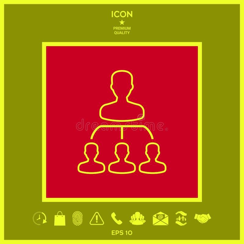 Jerarquía - línea icono ilustración del vector