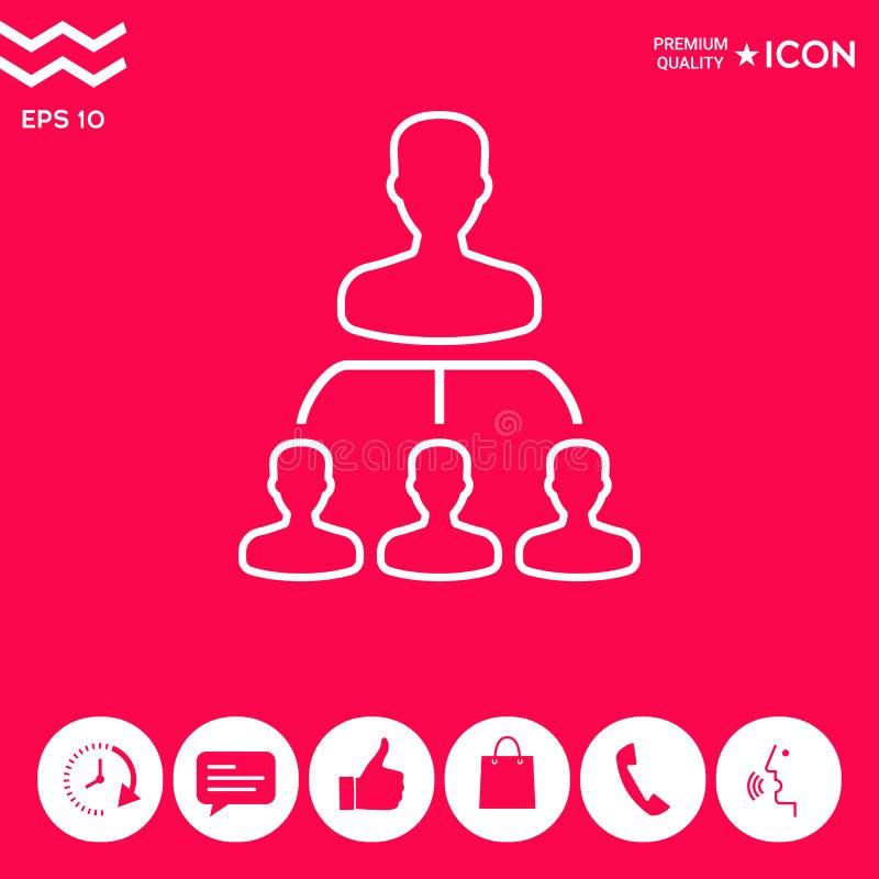 Jerarquía - línea icono stock de ilustración