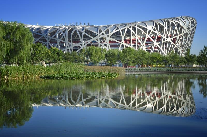 Jerarquía nacional del pájaro del estadio de Pekín China fotos de archivo