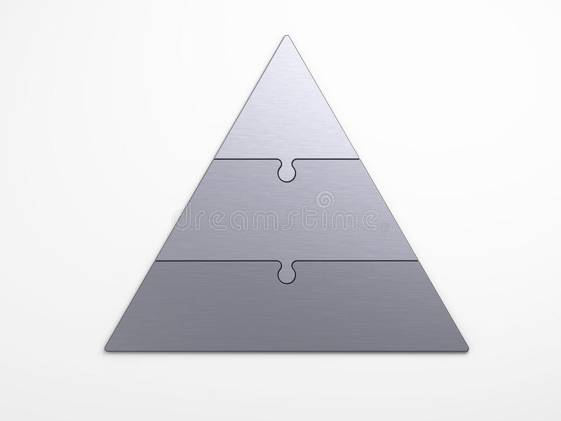 Jerarquía piramidal del metal ilustración del vector