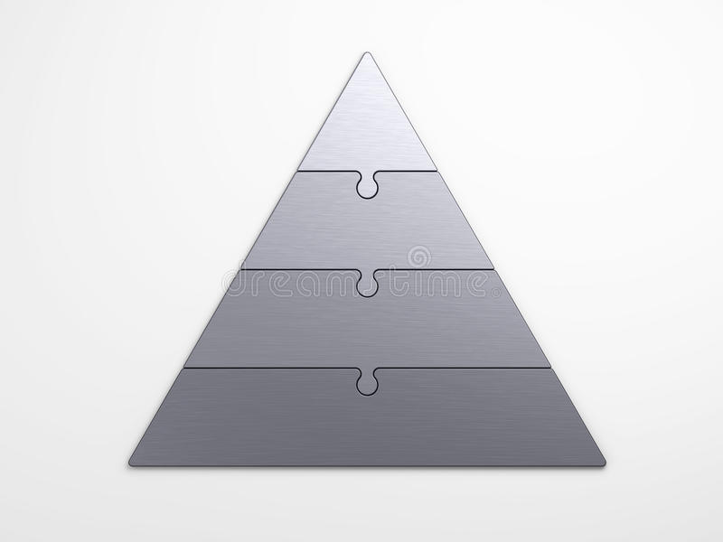 Jerarquía piramidal del metal libre illustration