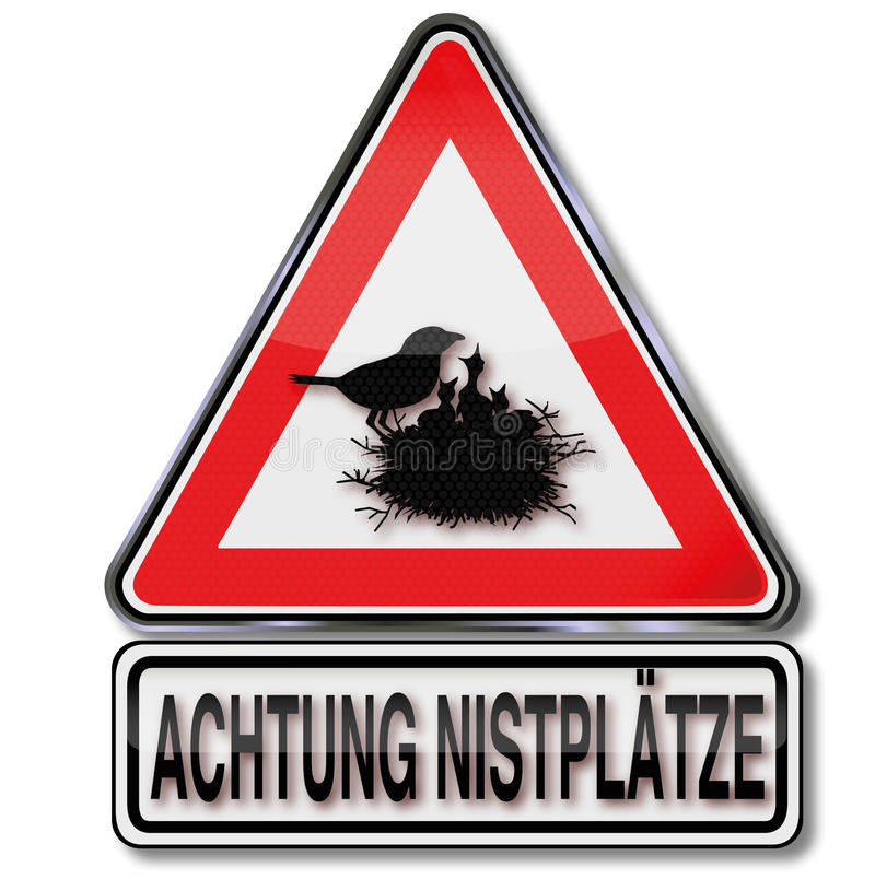 Jerarquización de la precaución y pájaros jovenes ilustración del vector