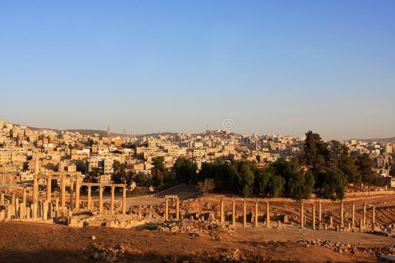 Jerash city, Jordan. Ruins of the Roman city of Gerasa, Jerash, Jordan royalty free stock images