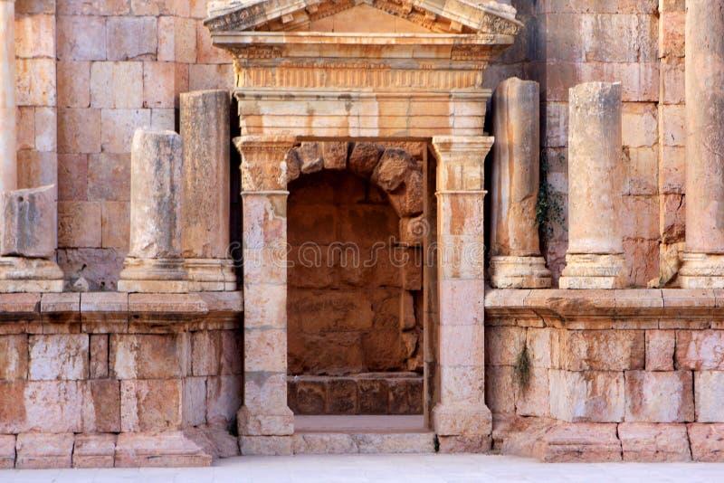 Jerash city, Jordan. Ruins of the Roman city of Gerasa, Jerash, Jordan stock images