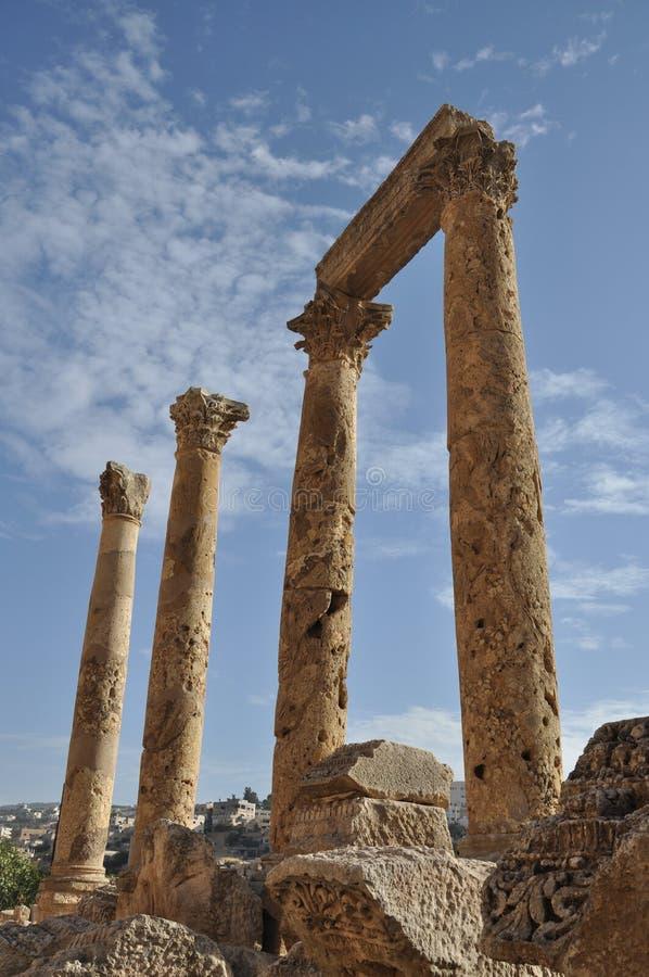 Jerash Columns stock photos
