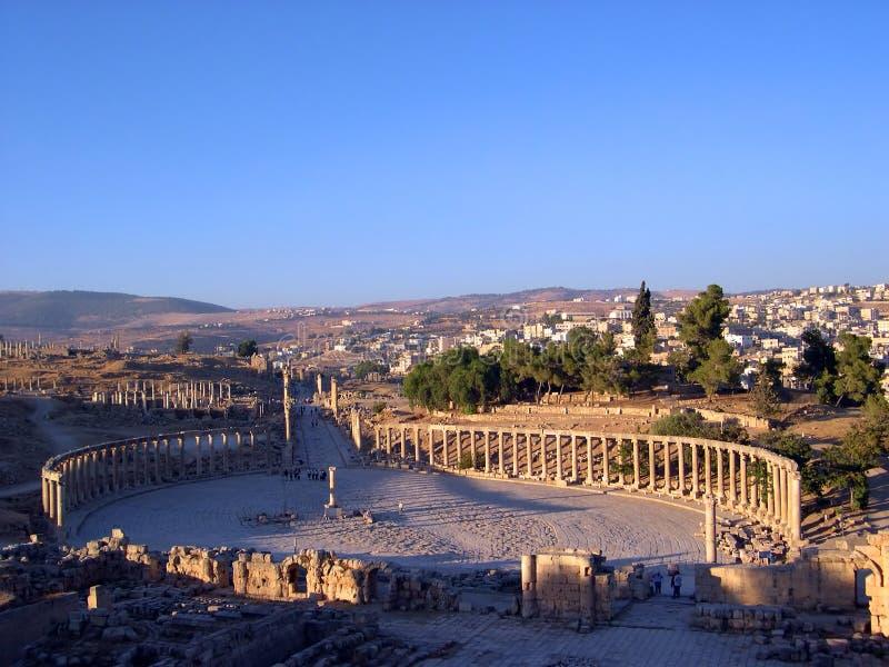 Jerash columns ii stock photo