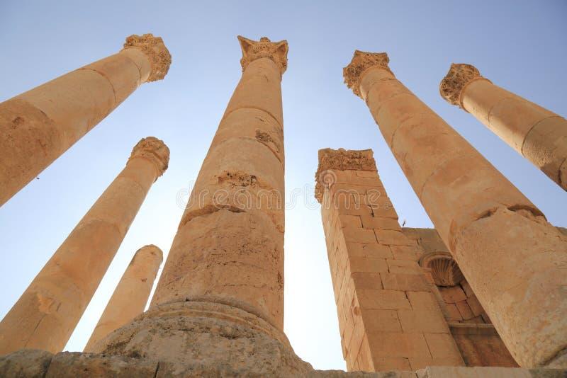 Jerash em Jordânia fotografia de stock