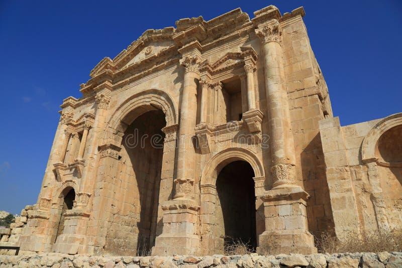 Jerash en Jordania imagenes de archivo