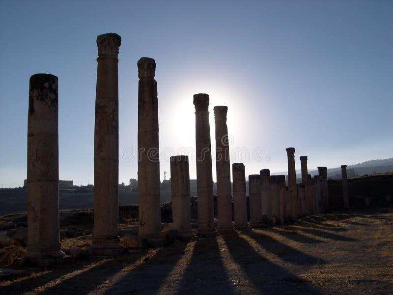 jerash för kolonner iii royaltyfria bilder