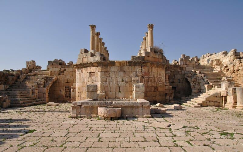 jerash Jordan ruiny obraz royalty free