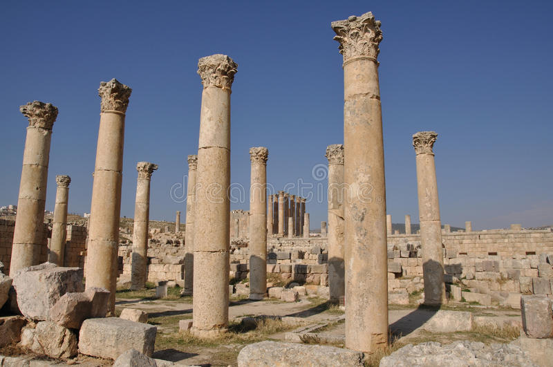 Jerash, Jordanien stockbild