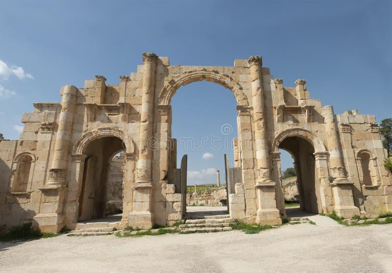 Jerash, Jordanowska podróż, Środkowy Wschód, Antyczne ruiny zdjęcie stock