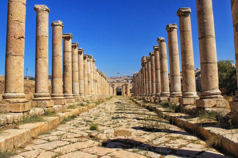 Jerash la ville marchande antique de Gerasa photographie stock