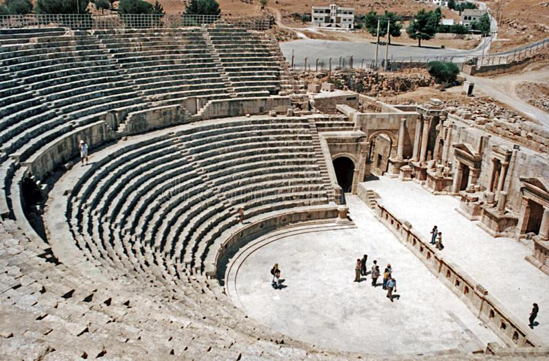 Jerash north theater royalty free stock photography