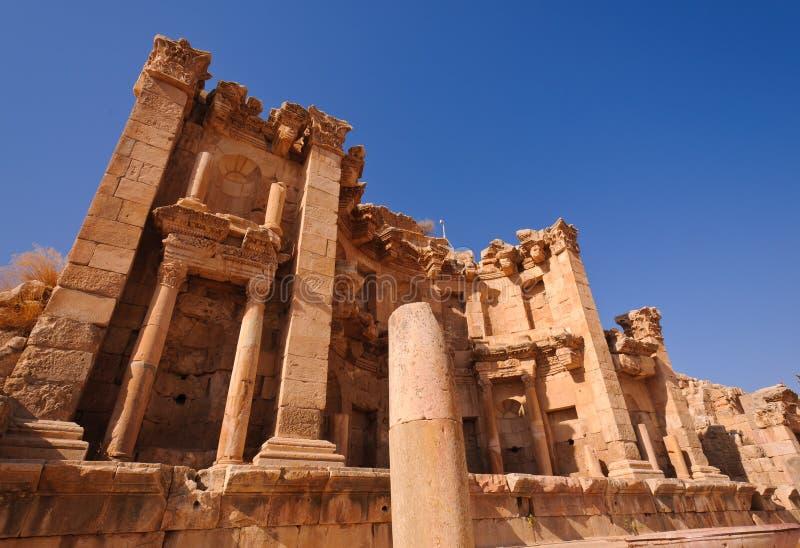Jerash Nymphaeum royalty-vrije stock afbeeldingen