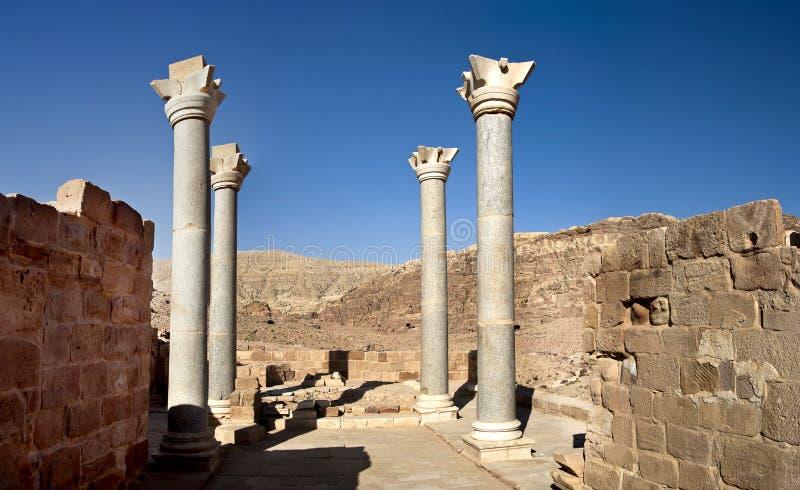 Jerash the roman old city in Petra. Jordan stock photography