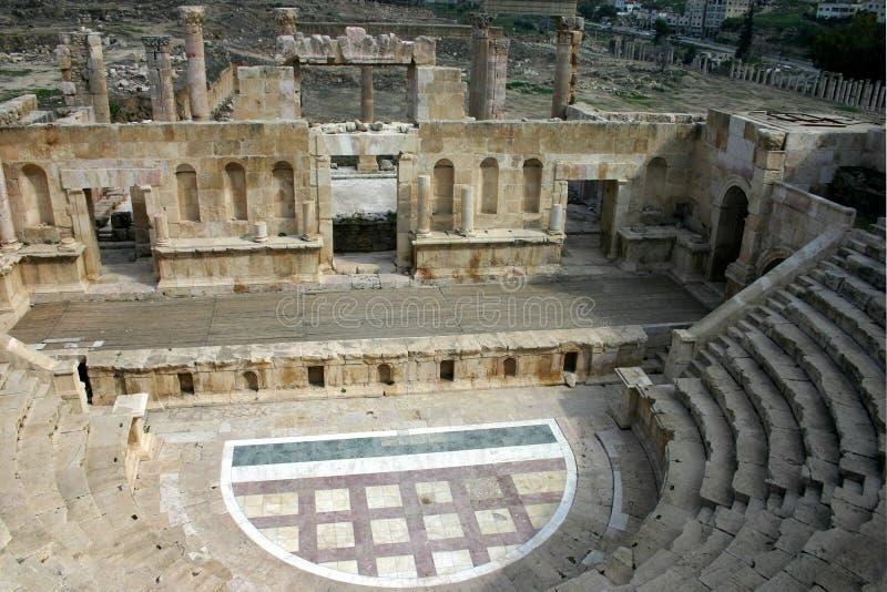Jerash theater royalty free stock image