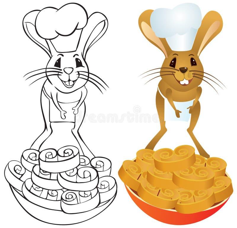 Jerboa szef kuchni royalty ilustracja