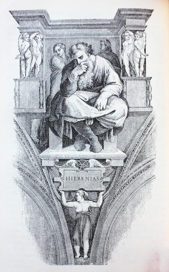 Free Jeremiah By Michelangelo In The Vintage Book Michelangelo By S.M. Bryliant, St. Petersburg, 1891 Stock Photos - 180168473