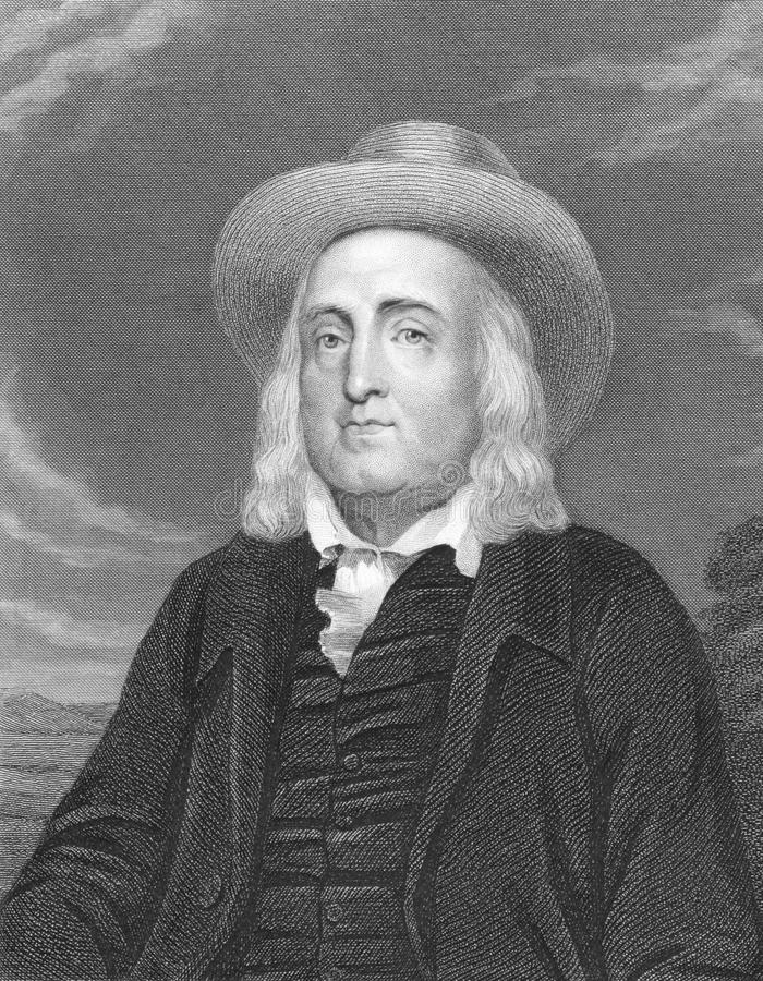 Jeremy Bentham. (1748-1832) on engraving from the 1800s. English philosopher and political radical. Best known for his moral philosophy. Engraved by J stock image