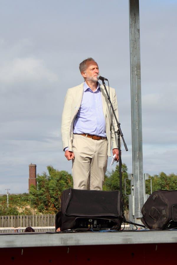 Jeremy Corbyn przy praca wiecem w Cornwall [Sierpień 6th 2016, basen, Cornwall, UK] fotografia stock