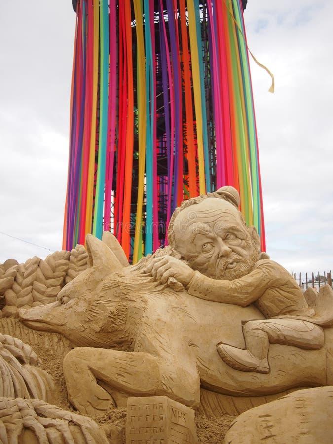 Jeremy Corbyn Sand Sculpture fotografía de archivo libre de regalías