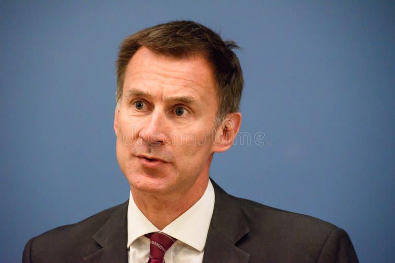Jeremy Hunt, ministro de Negócios Estrangeiros de Reino Unido fotos de stock