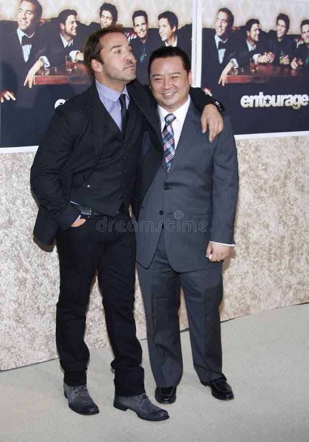 Jeremy Piven e Rex Lee fotografia de stock