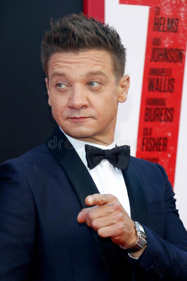 Jeremy Renner. At the Los Angeles premiere of `Tag` held at the Regency Village Theatre in Westwood, USA on June 7, 2018 royalty free stock image