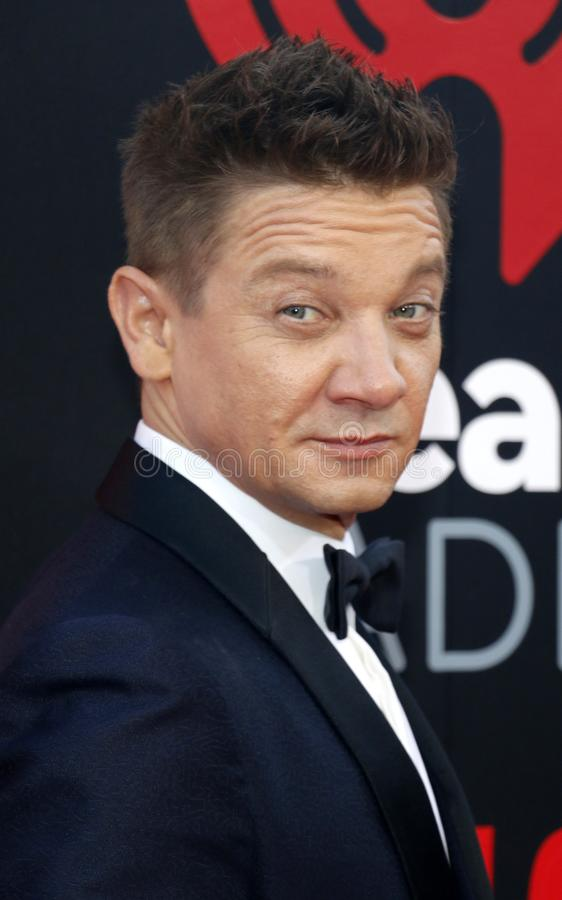 Jeremy Renner. At the Los Angeles premiere of `Tag` held at the Regency Village Theatre in Westwood, USA on June 7, 2018 royalty free stock photo