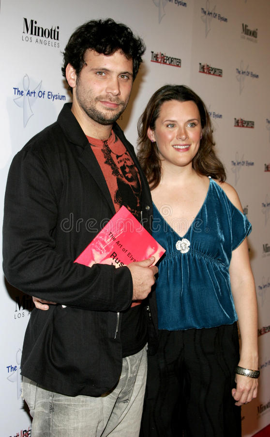 Jeremy Sisto och Jennifer Howell royaltyfria bilder