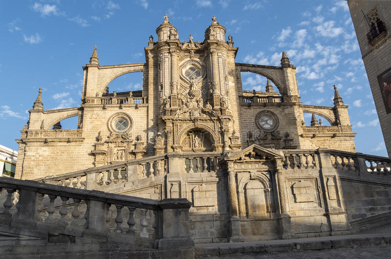 Jerez de la frontera Cathedral, Spain.  royalty free stock photos