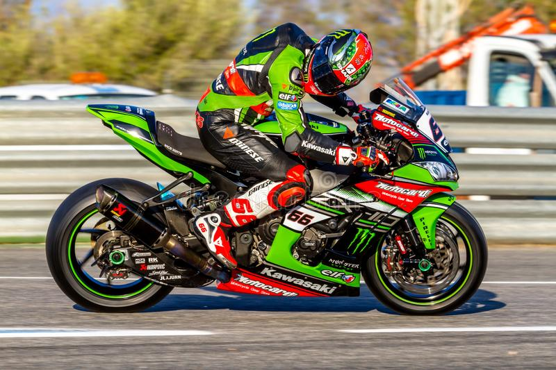 Tom Sykes pilot of Superbikes SBK royalty free stock photo