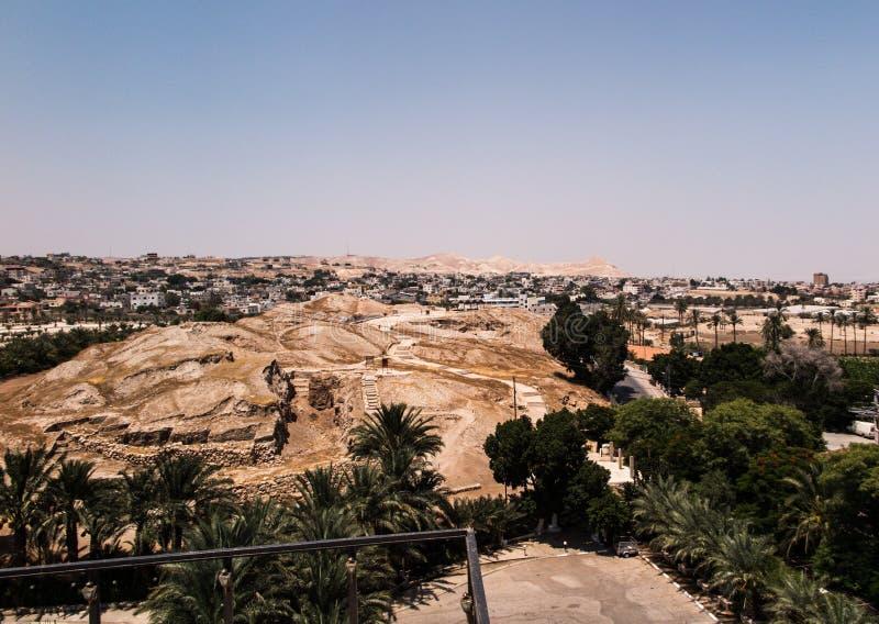 Jericó es una ciudad palestina situada cerca de Jordan River en t imágenes de archivo libres de regalías