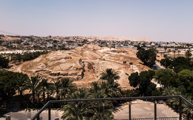 Jericho é uma cidade palestina situada perto de Jordan River em t imagem de stock