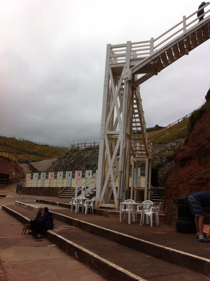 Jericho Steps i Sidmouth royaltyfri bild