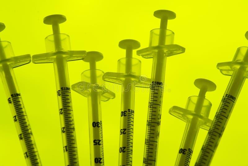 Jeringuillas de la insulina fotos de archivo