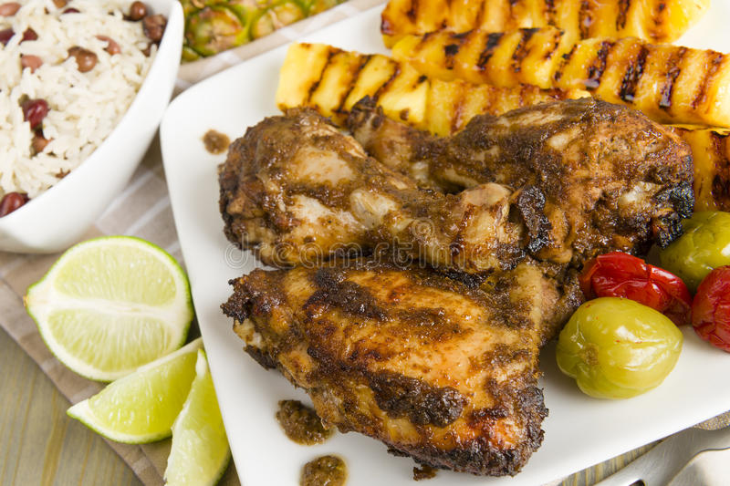 Jerk Chicken Royalty Free Stock Images