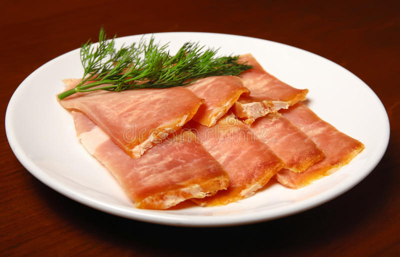Download Jerked Meat Slices On A Plate Stock Photo - Image: 22931860