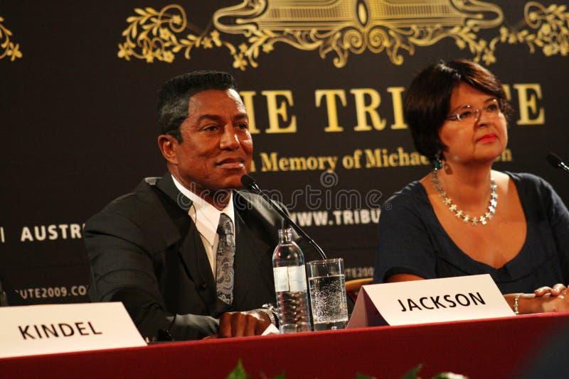 Jermaine Jackson et Renate Brauner images stock
