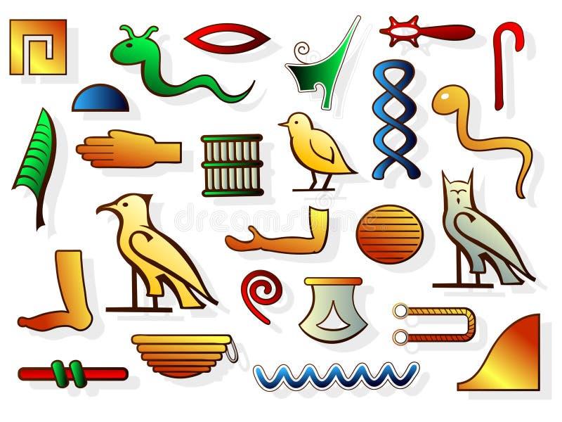Jeroglíficos egipcios stock de ilustración