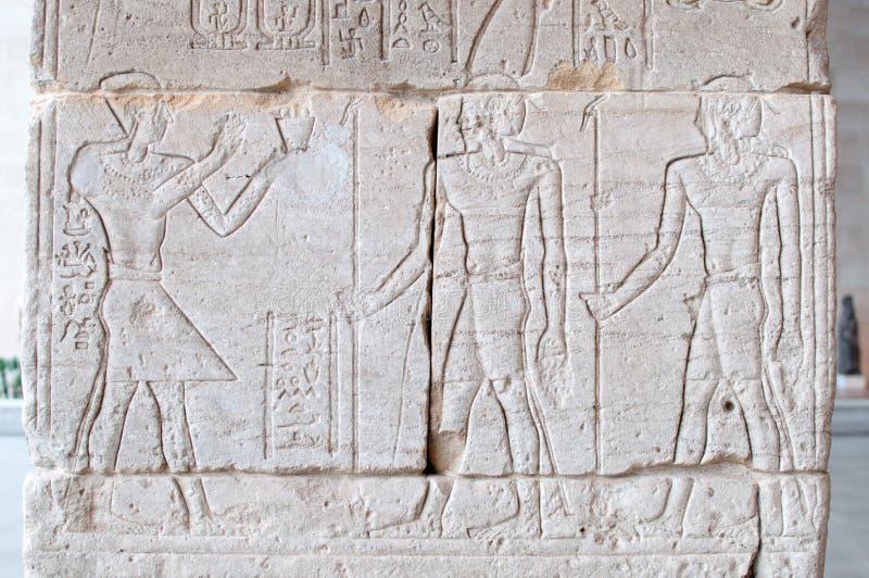 Jeroglíficos egipcios foto de archivo libre de regalías