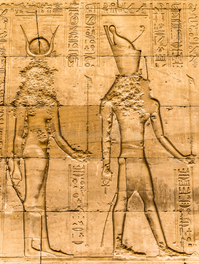 Jeroglíficos egipcios auténticos imagen de archivo libre de regalías