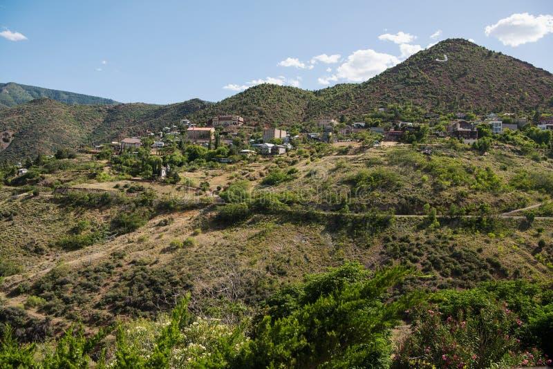 Jerome, μια πόλη στους μαύρους λόφους της κομητείας Yavapai, Αριζόνα στοκ εικόνα με δικαίωμα ελεύθερης χρήσης