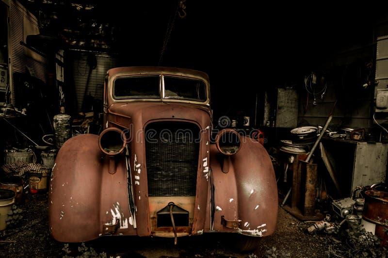 Jerome Arizona-autogarage royalty-vrije stock foto's