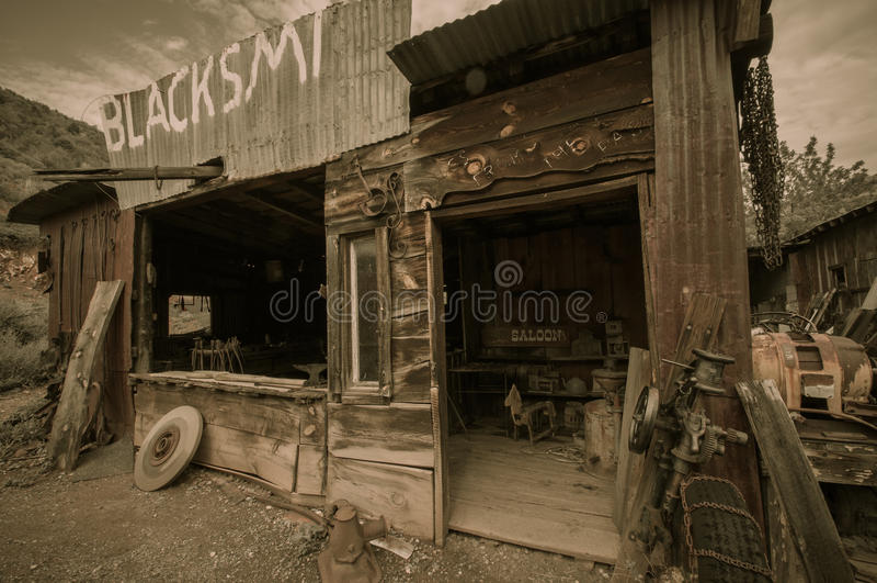 Jerome Arizona miasto widmo bar zdjęcie stock