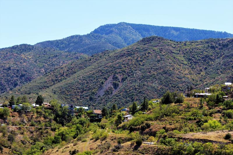 Jerome Arizona Mining Region stock images