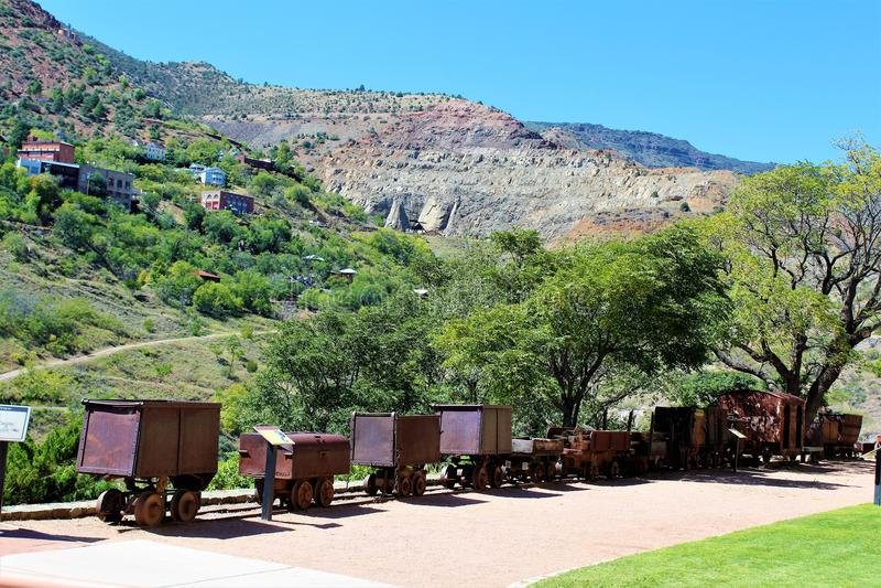 Jerome Arizona State Historic Park stockbilder