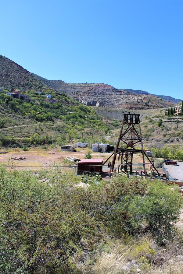 Jerome Arizona State Historic Park. Jerome State Historic Park a mining region in the northeast of the Black Hills, east Yavapai County, Arizona USA royalty free stock images